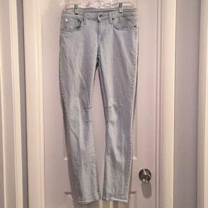 Helmut Lang Light Wash Skinny Jeans